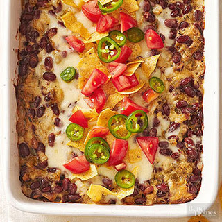 Red Bean, Cheese, and Triple-Chile Casserole.