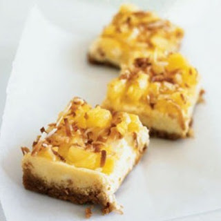 Piña Colada Cheesecake Bars