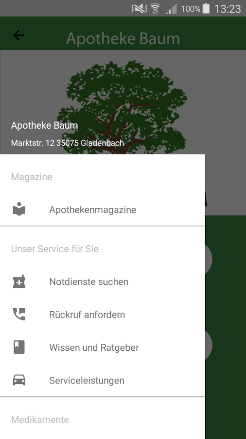 Apotheke Baum- screenshot