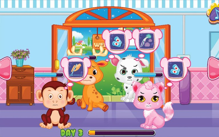 android Pets Clinic - Kids Doctor game Screenshot 1