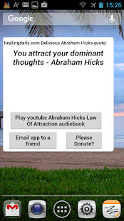 DeliciousAbrahamHicksQuotes- screenshot thumbnail