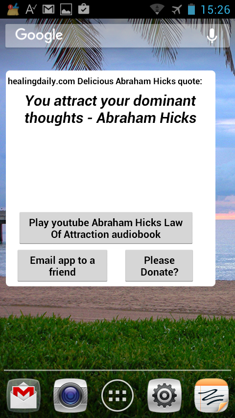 DeliciousAbrahamHicksQuotes- screenshot
