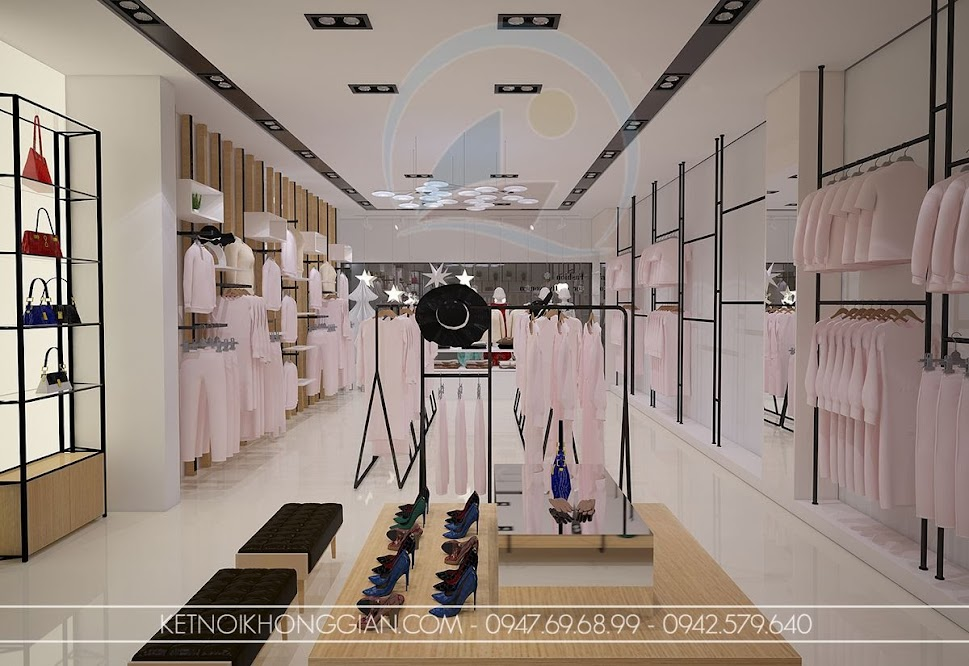 thiết kế cửa hàng thời trang đẹp