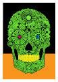 Crypto Green Sugar Skull