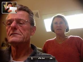 Photo: Clark Sings to Grandpa & Grandma