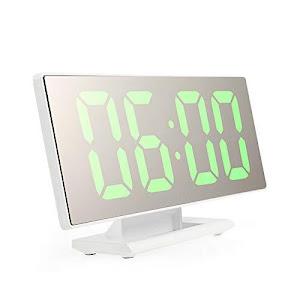 Ceas digital LED cu oglinda, cifre mari, USB, temperatura