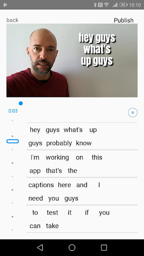 AutoCap - automatic video captions and subtitles 0.9.33 screenshots 1