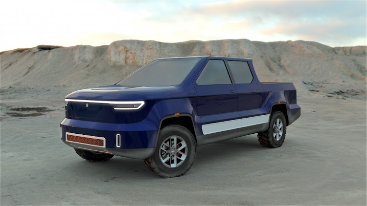 The rendering of the concept M1B electric bakkie. Picture: SUPPLIED