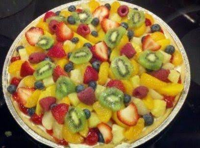 Fruit Pizza Ready To Slice And Serve.