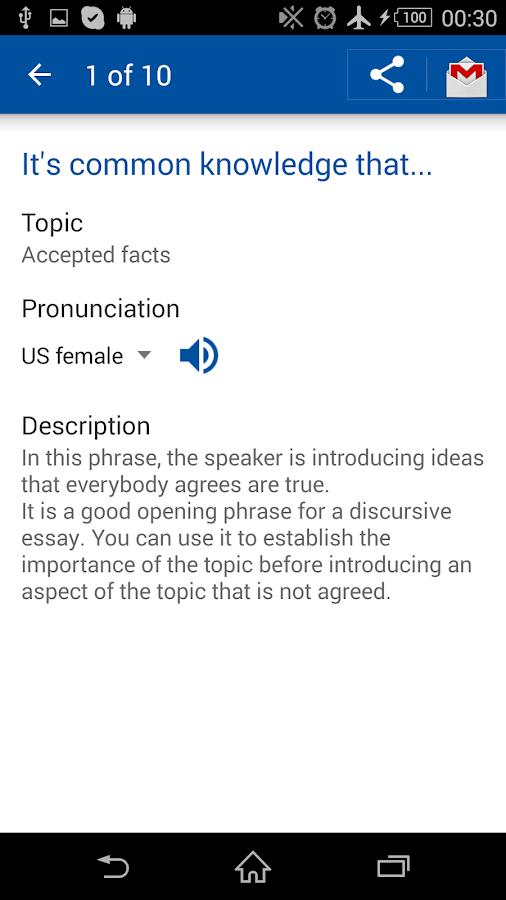 English Useful Expressions - screenshot