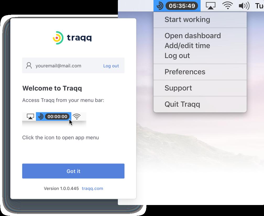 Traqq desktop app