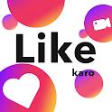 Like Karo : Short Video App, Like Video icon