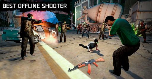 zombie Jeux de tir: marche zombie morts en hausse  captures d'écran 2
