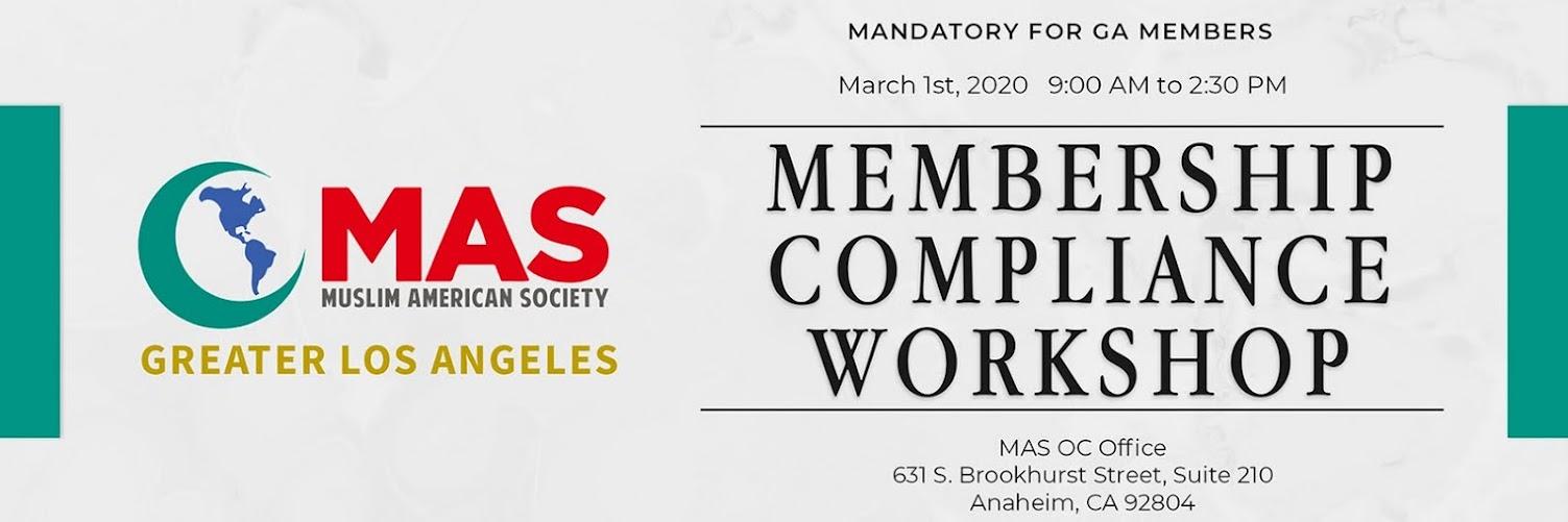MAS GLA Membership Compliance Phase I