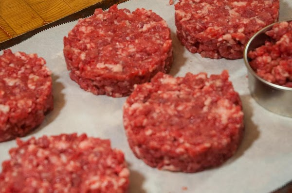 Form into 6 - 1/3-pound (150g) balls, and flatten into patties 1-inch (2.5cm) thick,...