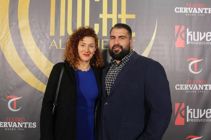 En pareja, en el photocall de los Premios de la Noche Almeriense.