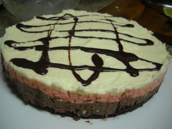 Brownie Bottom Neapolitan Cheese Cake Recipe