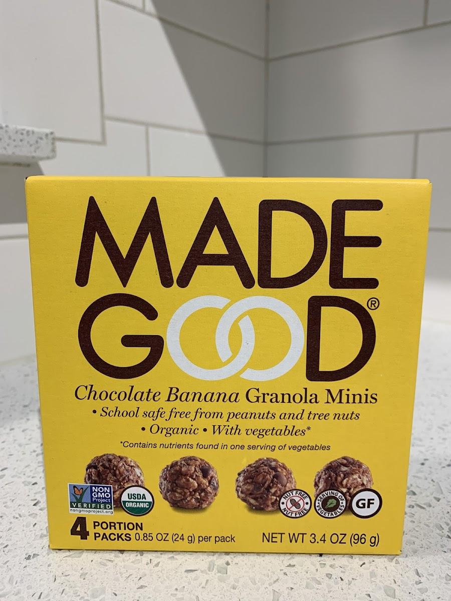 Organic Granola Minis-Chocolate Banana