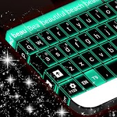 Green Neon Keyboard GO