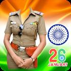 Republic Day Women Police Suit Photo Editor icon
