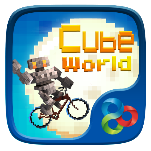 Cube World GO Launcher Theme