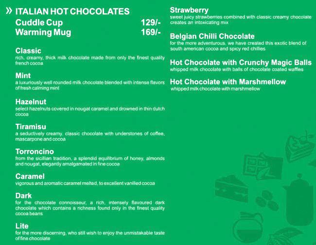Australia's The Chocolate Room menu 11