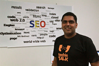 Photo: Piyush talks SEO