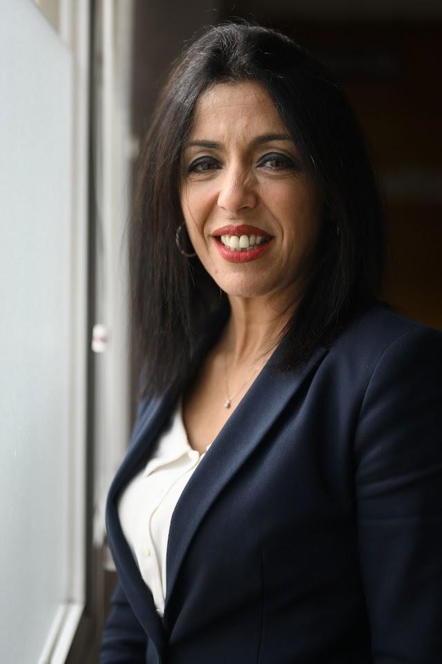 Un primer plano de la presidenta del Parlamento de Andalucía
