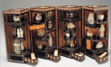 Photo: 18th C. Folding CHinese Jade display case.
