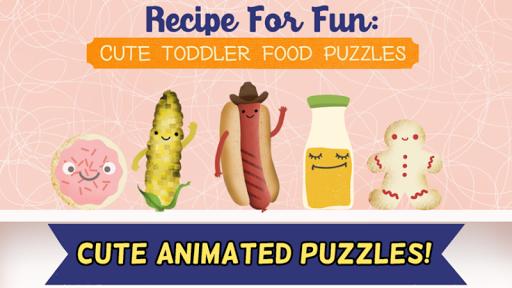 Cute Toddler Fun Food Puzzles