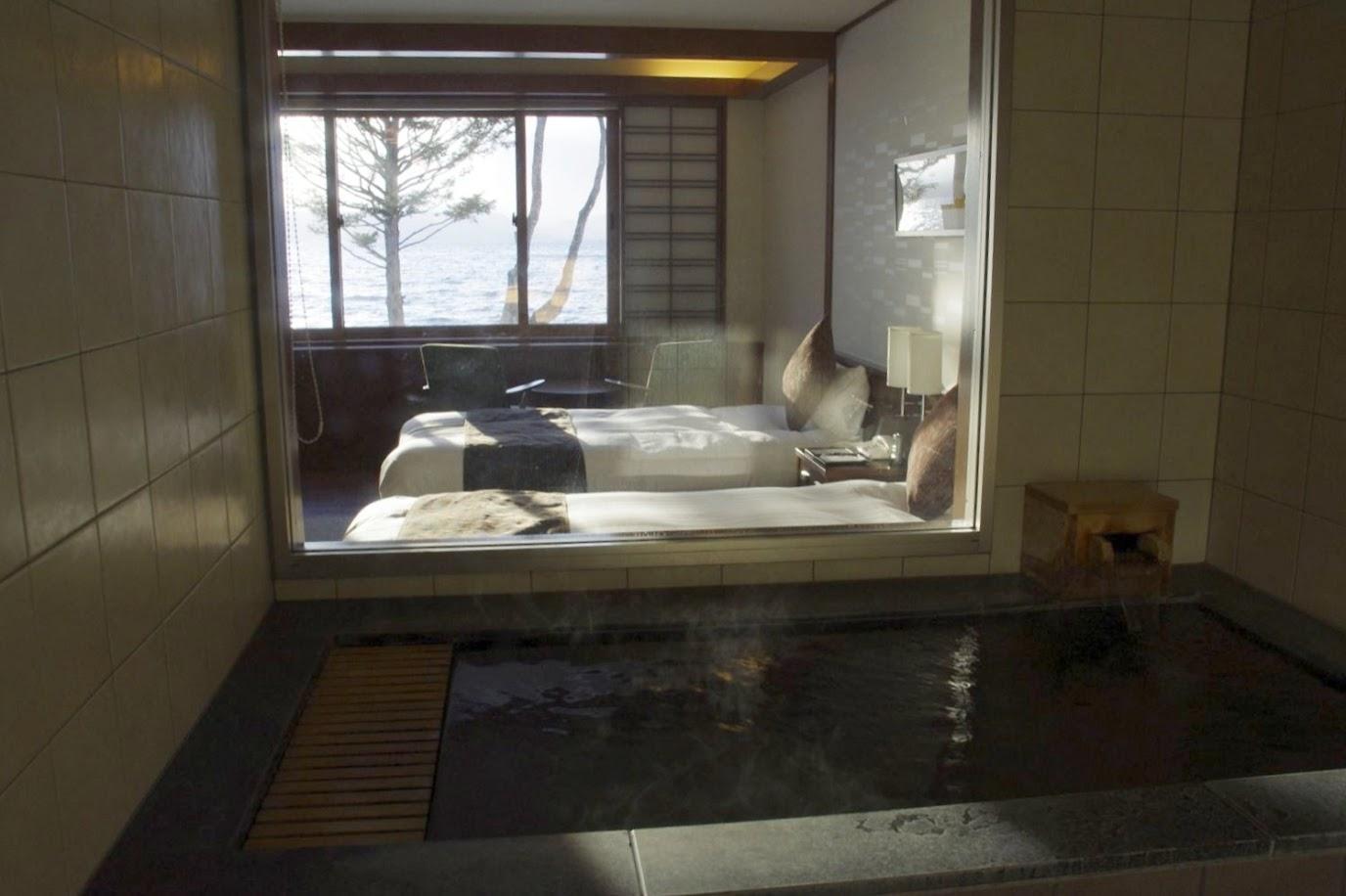 天然温泉付き客室