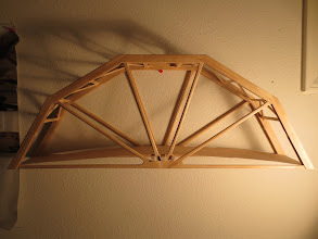 Photo: This was my best bridge that I made for the Seattle ASCE Popsicle Stick Bridge Competition.