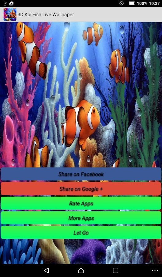 Koi fish live wallpapers android apps on google play for Koi 3d live wallpaper