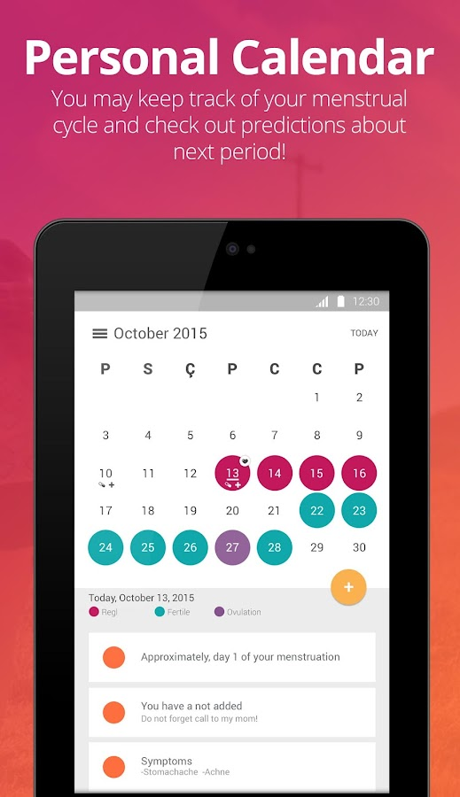 Pepapp - Period Tracker- screenshot