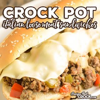 Crock Pot Italian Loose Meat Sandwiches.