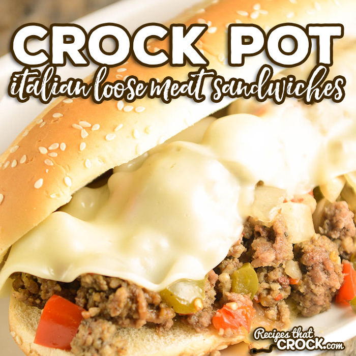Crock Pot Italian Loose Meat Sandwiches