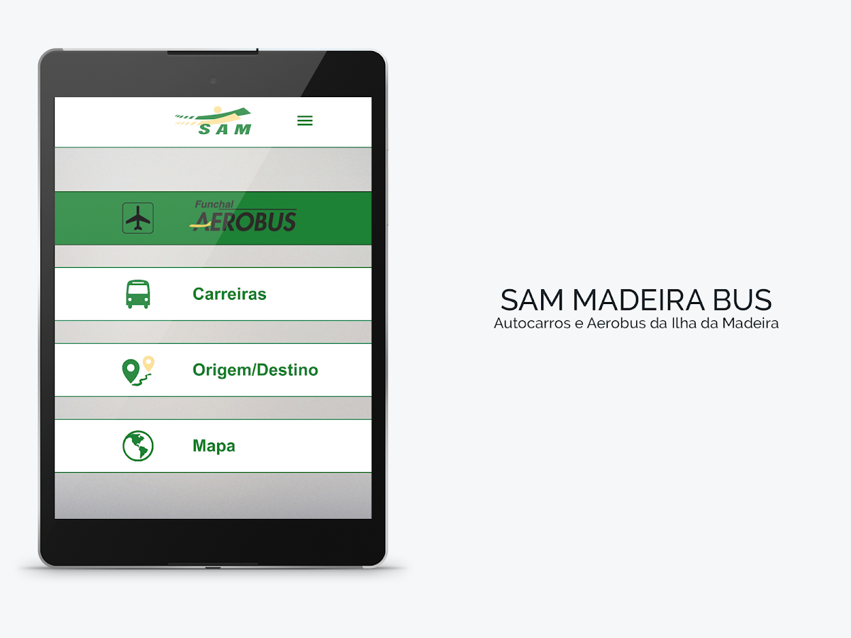 SAM Madeira Bus– captura de ecrã