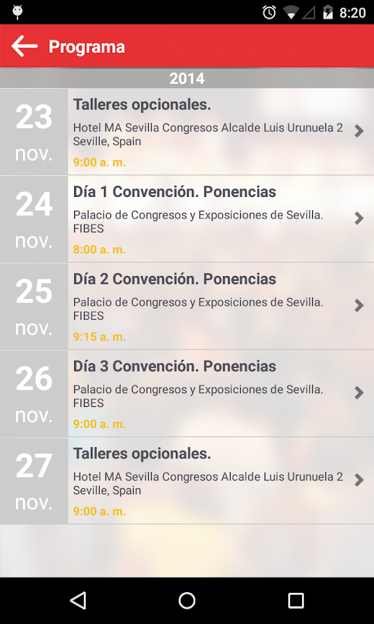 FDF EVENTOS- screenshot