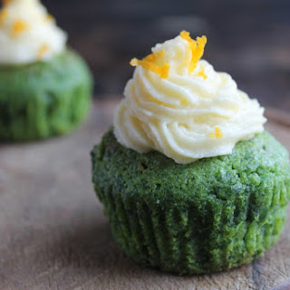 Kale and Orange Cupcakes with Orange Icing Recipe