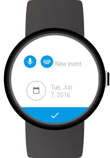Calendar for Wear OS (Android Wear)- screenshot