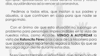 Imagen del bando de Alcadía publicado por el Ayuntamiento de La Mojonera.