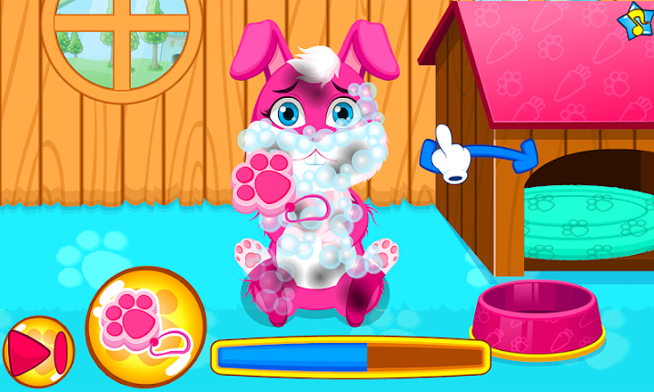 Baby bunny grooming makeover Android App Screenshot
