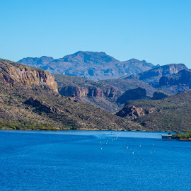 to the water by Dustin Wilcox - Novices Only Landscapes ( mountains, arizona, lake, canyon lake )