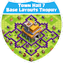 Town Hall 7 Base Layouts Trophy APK icon