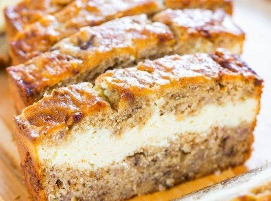 Cream Cheese-filled Banana Bread Recipe