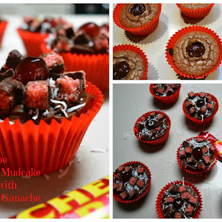 Chocolate Mudcake Cherry Ripe Cupcakes