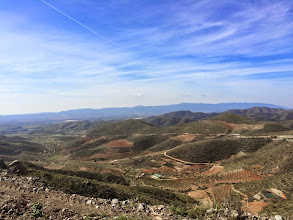 Photo: The climb to Benizalon from the top