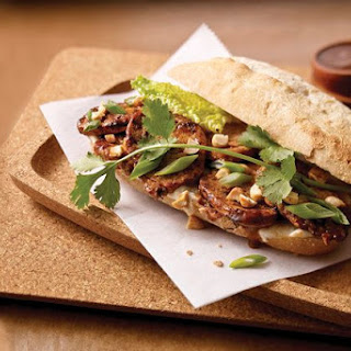 Asian Pork Tenderloin Sandwich.