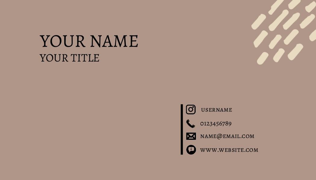 simple brown modern business card