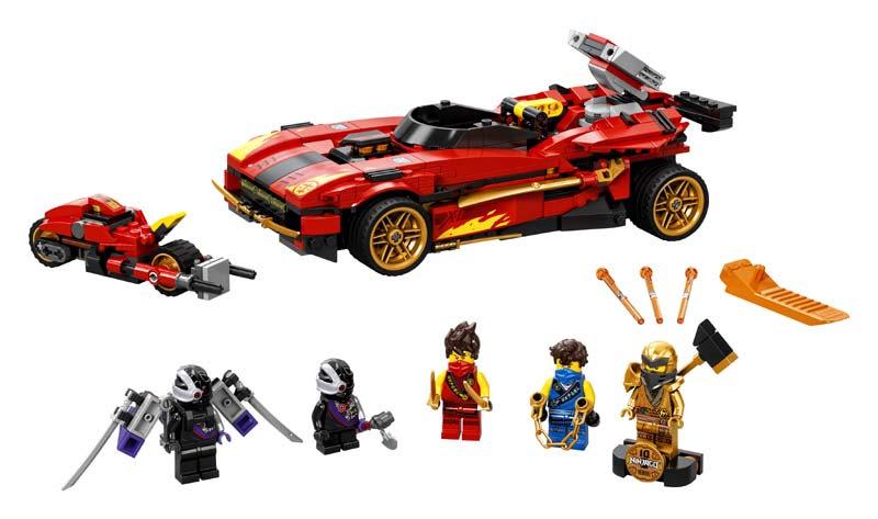 Contenido de Lego® 71737 Deportivo Ninja X-1